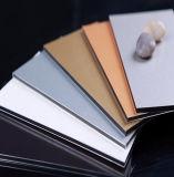 PE de mármol de recubrimiento de aluminio ACP compuesto de plástico de color de la hoja de ACM
