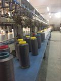El poliester 100% colorea el hilado cubierto Spandex para hacer punto de los calcetines que teje
