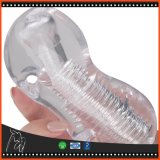 Игрушки секса чашки Masturbation Stroker Pussy прозрачных продуктов секса тренера пениса Masturbator силикона мыжских карманные для людей
