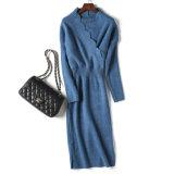A nova forma de desgaste das mulheres SLIM V-Pescoço vestido de malha