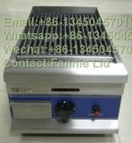 Gril de roche de lave d'acier inoxydable de Comcercial (modèle : GL-368)
