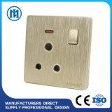 Переключателя английского стандарта 2gang 2way плиты бакелита высокого качества переключатель стены UK электрический