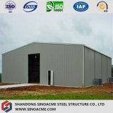 Oficina clara pré-fabricada do projeto da oficina do frame de aço para Ghana