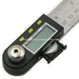 Цифровой точные измерения инструменты всеобщей угол линейки Protractor линейка из нержавеющей стали