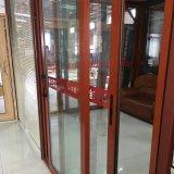 Porta de painel deslizante de vidro do dobro de alumínio térmico clássico do perfil da ruptura