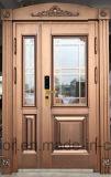 2018年の工場は直接供給する別荘の鋼鉄機密保護のドア、鉄の金属のドア(EF-V66)を