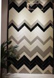De de zwarte 3X12inch/7.5X30cm Verglaasde Ceramische Badkamers van de Tegel van de Metro van de Muur Unlevel/Decoratie van de Keuken