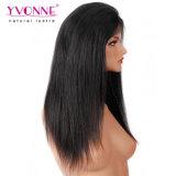 Yvonne 흑인 여성을%s 브라질 사람의 모발 자연적인 똑바른 레이스 정면 가발