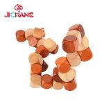 Enigmas de madeira do cubo das provocações do cérebro 3D que bloqueiam o brinquedo do adulto das crianças do jogo dos enigmas Jigsaw
