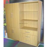 オフィスの棚付けの本箱はファイルキャビネットの木の棚付けをカスタマイズする