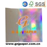 良質はデザインによって金属で処理された板紙表紙ホログラフィックペーパーロールをカスタマイズした