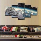 Sel caliente pinturas impresas HD de Star Wars Cuadros Decoracion de 5 pedazos en el arte de la pared de la lona para las ilustraciones caseras de la decoración de la pared de las decoraciones