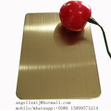 PVDカラー緑の銅1.2mmのステンレス鋼はヘアライン終わりシートにブラシをかけた