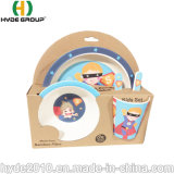 La fabricación de utensilios de cocina vajillas profesional componible conjunto Bebé niño de fibra de bambú Set