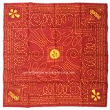中国の工場OEMの農産物はデザインによって綿のHeadwearの印刷された赤いオレンジバンダナをカスタマイズした