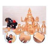 Blocos de construção geométrica de madeira natural de brinquedos educativos para crianças para bebés