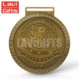 Medalla de encargo del esmalte del hierro plateado del oro del metal de la venta al por mayor del precio de fábrica