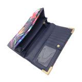주문을 받아서 만들어진 형식 여자 지갑을 인쇄하는 OEM/ODM 꽃