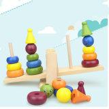 Brinquedos Multicolor educacionais adiantados de madeira das crianças da pilha do bloco do balanço