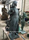 Travaux moulés de sculpture en bronze en caractère national