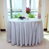 Lino de vector blanco de cena de la cubierta de vector del partido del mantel de la boda del paño de la mesa redonda del poliester al por mayor