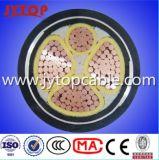 0.6/1kv 4 conducteurs en cuivre avec isolation en PVC ou en polyéthylène réticulé Armored souterrain de câble d'alimentation électrique