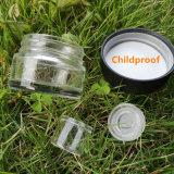 Kindersichere Cbd-Gläser Square Wachs Öl Konzentrat Glasflasche