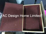 Antigüedades en forma de caja relieve Vintage de cuero de PU/almacenamiento de madera MDF cuadro Libro