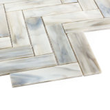 Lineaire Ontwerpen de Tegel van het Mozaïek van 3mm Gebrandschilderd glas