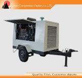 Compresor de aire de rosca portable móvil de la refrigeración por aire Oli libremente