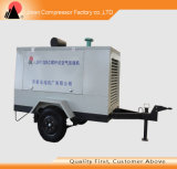 Compresseur d'air à vis portatif mobile de refroidissement à l'air Oli librement
