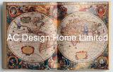 Arte di legno globale speciale della parete di figura del libro dell'unità di elaborazione Leather/MDF del programma di colore chiaro
