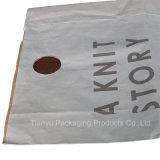 Flippiges Einkaufen-Papierbeutel, Geschenk-Papierbeutel mit gestempelschnitten ringsum Griff
