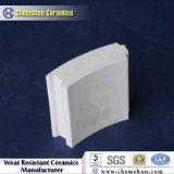 Fodera delle mattonelle di ceramica dell'allumina di 92% con la smussatura