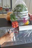 Sac recyclable de nourriture de congélateur de HDPE respectueux de l'environnement sur le roulis