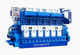 Avespeed GN6320 735kw-1618kw a velocidad media de 6 cilindros diesel marino marcha fiable motor de barco