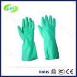 Зеленый нитриловые перчатки домашних хозяйств каучуковыми подушками