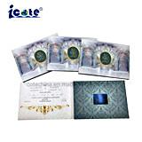 Romantic 2,8'' Brochura de Vídeo LCD cartões de Convite de casamento com bolso