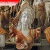 Tête buste en marbre pierre Sculpture (GSBST-123)