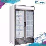 ガラスドアの冷凍の飲料の飾り戸棚