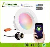 RGB 10W leiden van de Verlichting van WiFi van 4 Duim Slimme onderaan Licht