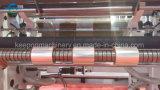 ペットホログラフィック銀製の虹の高品質の熱い押すホイルのジャンボロール着席機械