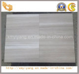 Het opgepoetste Witte Houten Marmer van de Korrel voor Tegels Floor&Wall