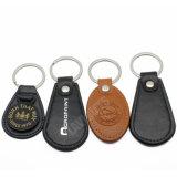 도매 대량 Handmade 주문 가죽 상표 로고 Keychain