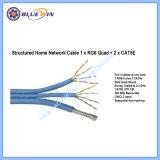 Câble de réseau de bureau à domicile groupés 1xcat Quad xrg6+25e