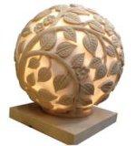 حجر رمليّ كرة ينحت حديقة تمثال مصباح