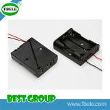 Support de batterie noir de Plasctic Lr44