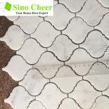 La alta calidad de color blanco de Carrara Bianco, arabescos mosaico de mármol para el suelo del baño