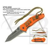 "4.5 ""Fecho fechado Liner Lock G10 Handle Knife com pedra lavada: 4PT116-45bl"