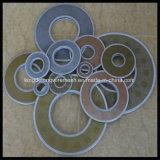 Сплетенные нержавеющей сталью диски фильтра ячеистой сети с обернутым краем